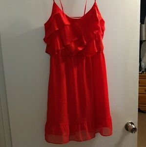 AE Bright Red Dress Size L